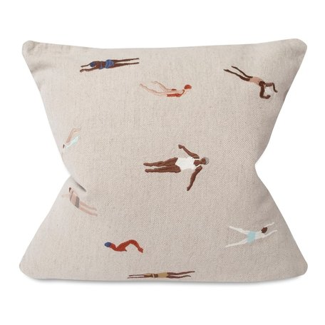 Cushion cover Swimmers - Linen