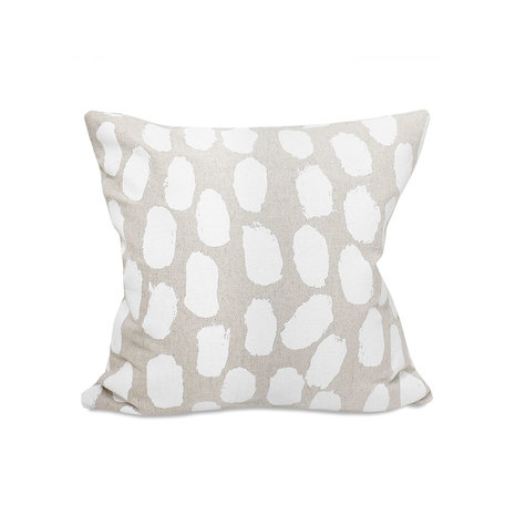 Linen cushion cover Dots - White