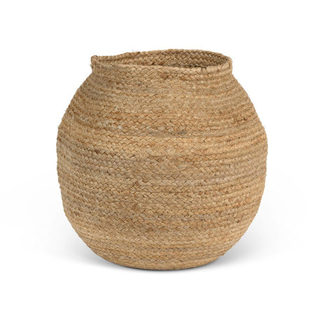 Jute basket - Natural - Round
