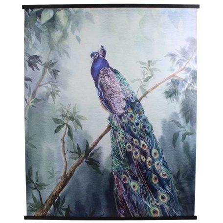 Velvet Wall cloth - Peacock