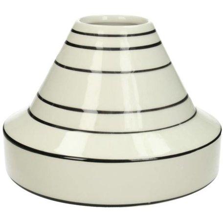 Vase - Black / White - Striped