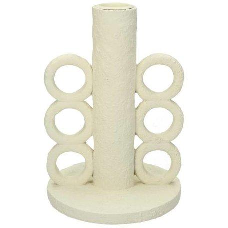 Modern candlestick - Circle - Cream