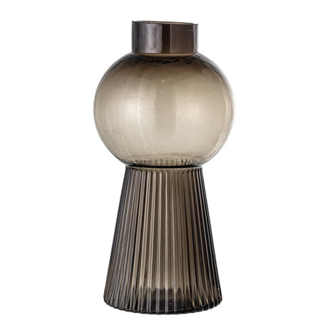 Vase  - Brown glass