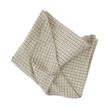 Tafelkleed Grid  - Clay