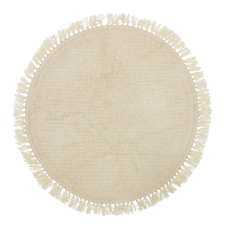 Round rug Lenea - Wool - Offwhite