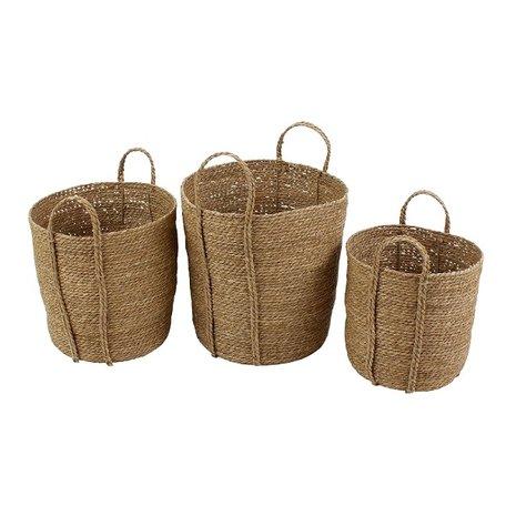 Seagrass baskets Nairobi - Brown - 3 pcs
