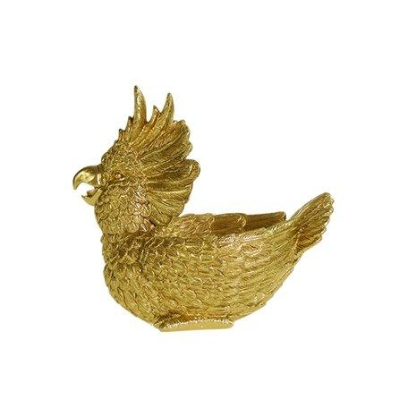 Decorative cockatoo bowl - Gold