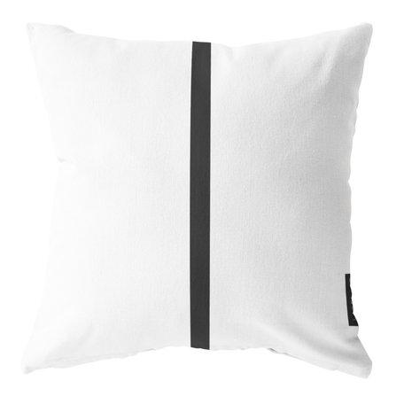 Waterdicht kussen voor buiten - Wit / zwart - 40 cm x 40 cm