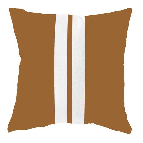 Waterdicht buitenkussen - Hazelbruin / wit  - 40 cm x 40 cm