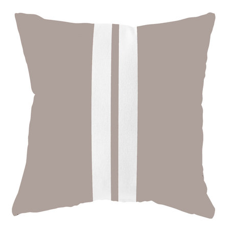 Waterdicht tuinkussen - Zand / wit  - 40 cm x 40 cm