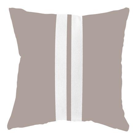 Waterproof garden cushion - Sand / white - 40 cm x 40 cm
