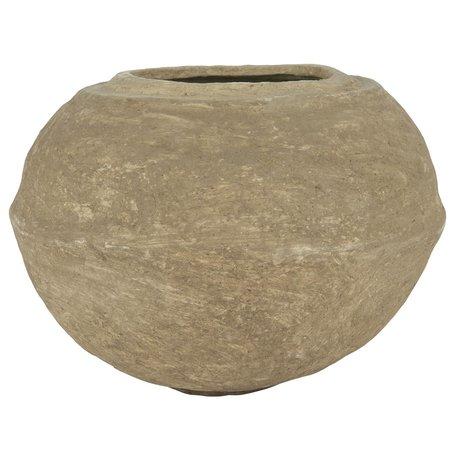 Paper mache bowl / vase - Natural