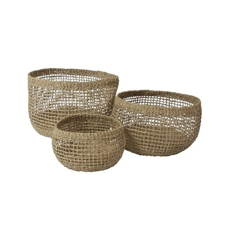 Seagrass baskets - Open - 3 pcs