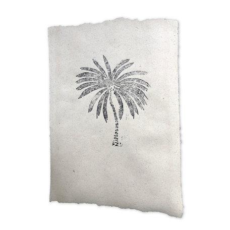 Elephant poo poster - Palm tree