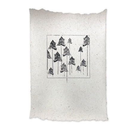 Elephant poo poster - Trees