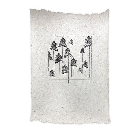 Olifantenpoep poster - Bomen