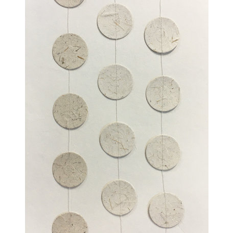 Olifantenpoep papier slinger - Rond