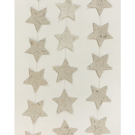 Elephant poo paper garland - Star