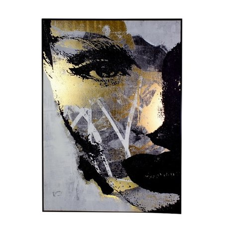 Canvas painting - Strong woman - Gold