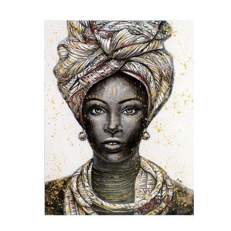 Canvas schilderij - Afrikaanse vrouw / Kiara