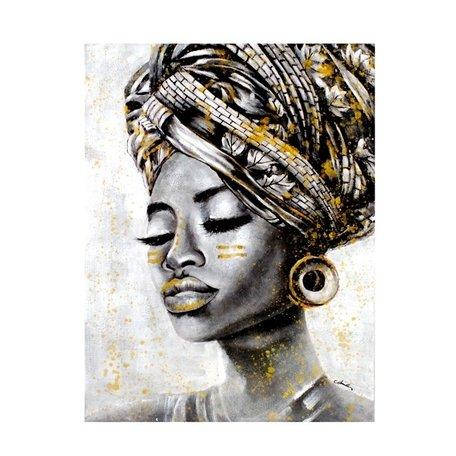 Canvas schilderij - Afrikaanse vrouw / Naomi