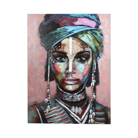 Canvas schilderij - Afrikaanse vrouw / Alika