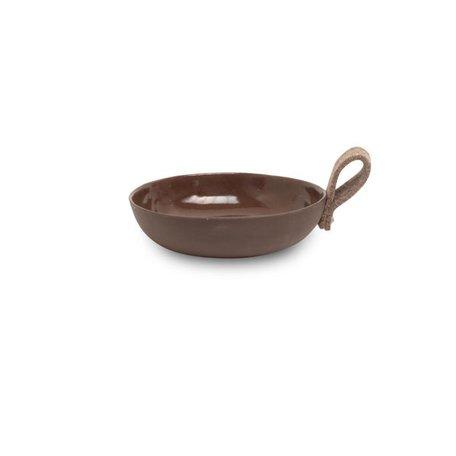 Schaal bruin / 17 cm - vilt lus bruin
