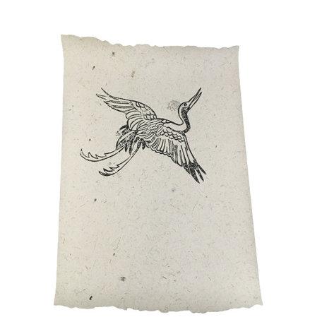 Olifantenpoep poster - Kraanvogel