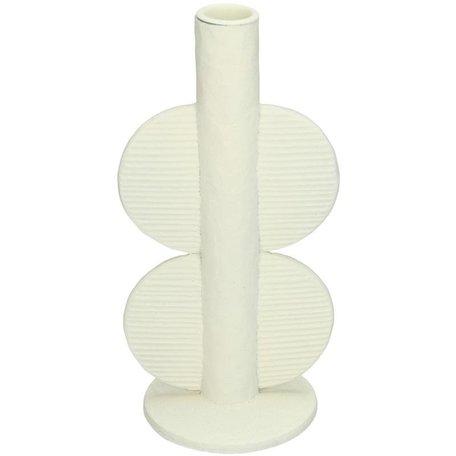 Modern candlestick - Semi circle - Ivory
