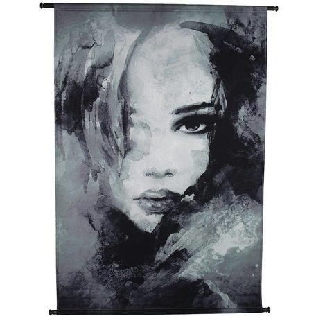 Fluweel wandkleed - Woman  Face