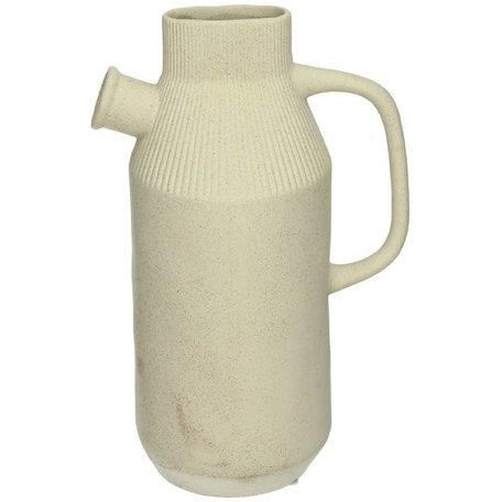 Can  vase  - Porcelain - Offwhite