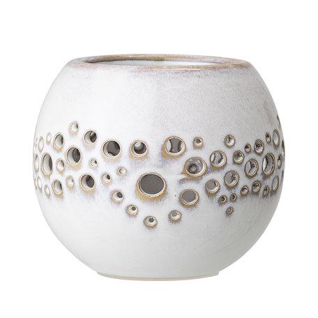 Tea light holder - Ceramic  - White