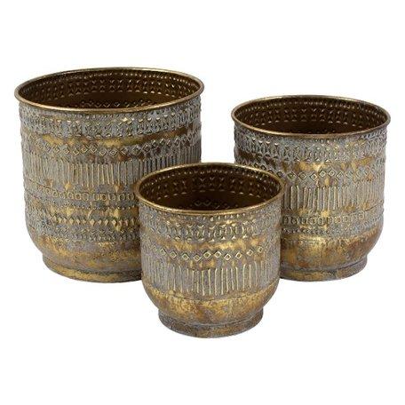 Planter Tripoli - Brass - Set of 3 pcs