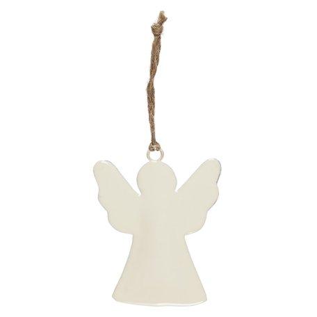 Ornament engel - Wit - Metaal
