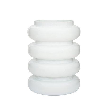 Vase Bulb - White - Glass