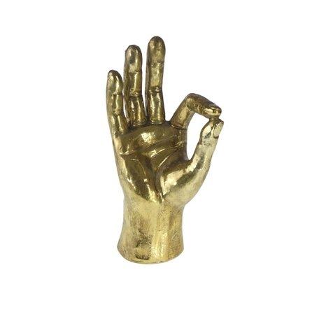 Hand OK - Goud