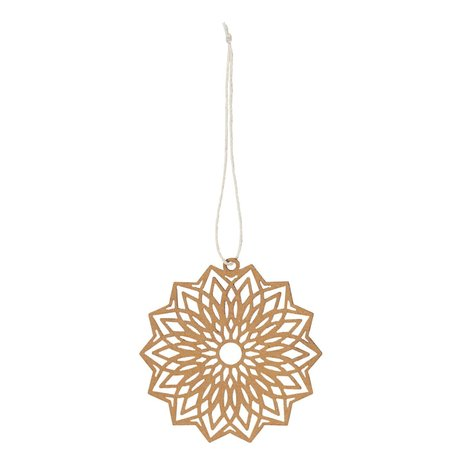 Kerst ornament flower - Papier - Bruin - Ø 8 cm