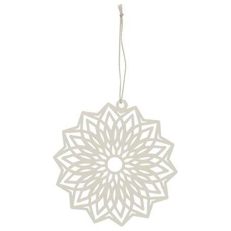 Kerst ornament flower - Papier -  Creme - Ø 12 cm
