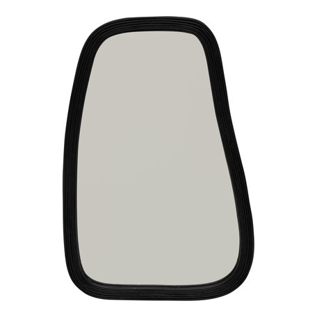 Bamboe spiegel - Zwart - Large