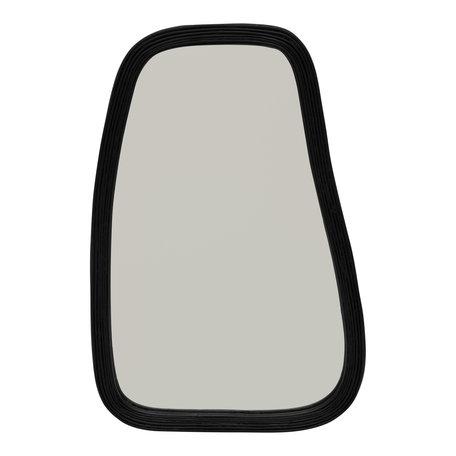 Bamboo mirror - Zwart - Large