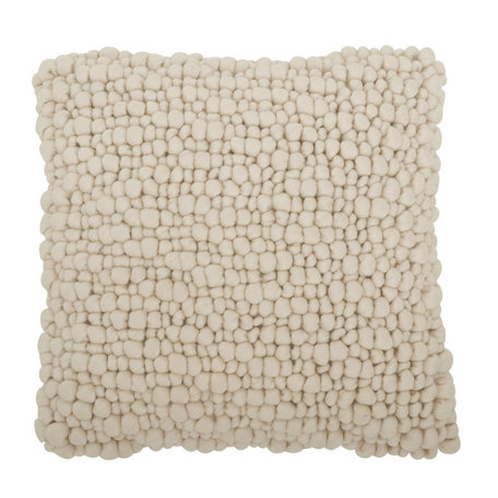 Knotted cushion - Wool - Offwhite
