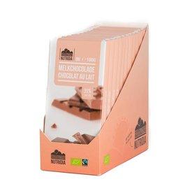 Tablette chocolat au lait bio 100g 12 pièces