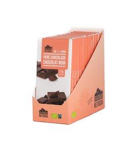 Tablette chocolat noir bio 72% 100g 12 pièces