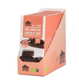 Tablet pure chocolade 80% bio 100g 12 stuks