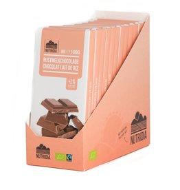 Tablet rijstmelkchocolade bio 100g 12 stuks
