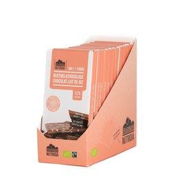Tablet rijstmelkchocolade gepofte rijst bio 100g 12 stuks