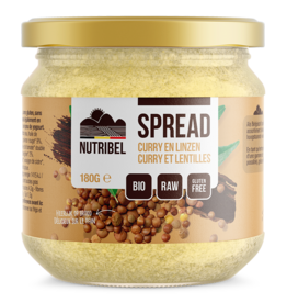 Curry-lentilles spread bio 180g