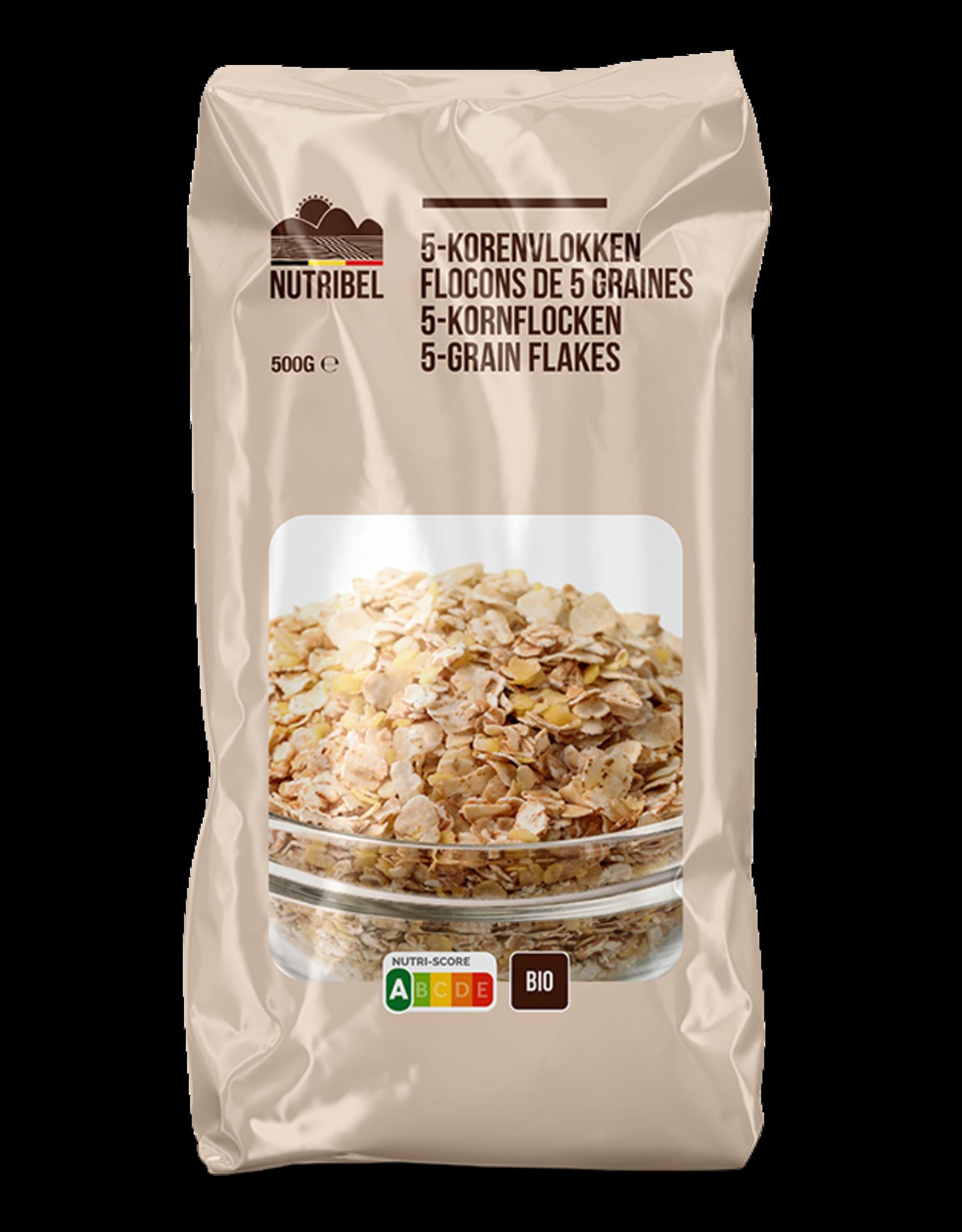 Nutribel Flocons 5 céréales bio 500g