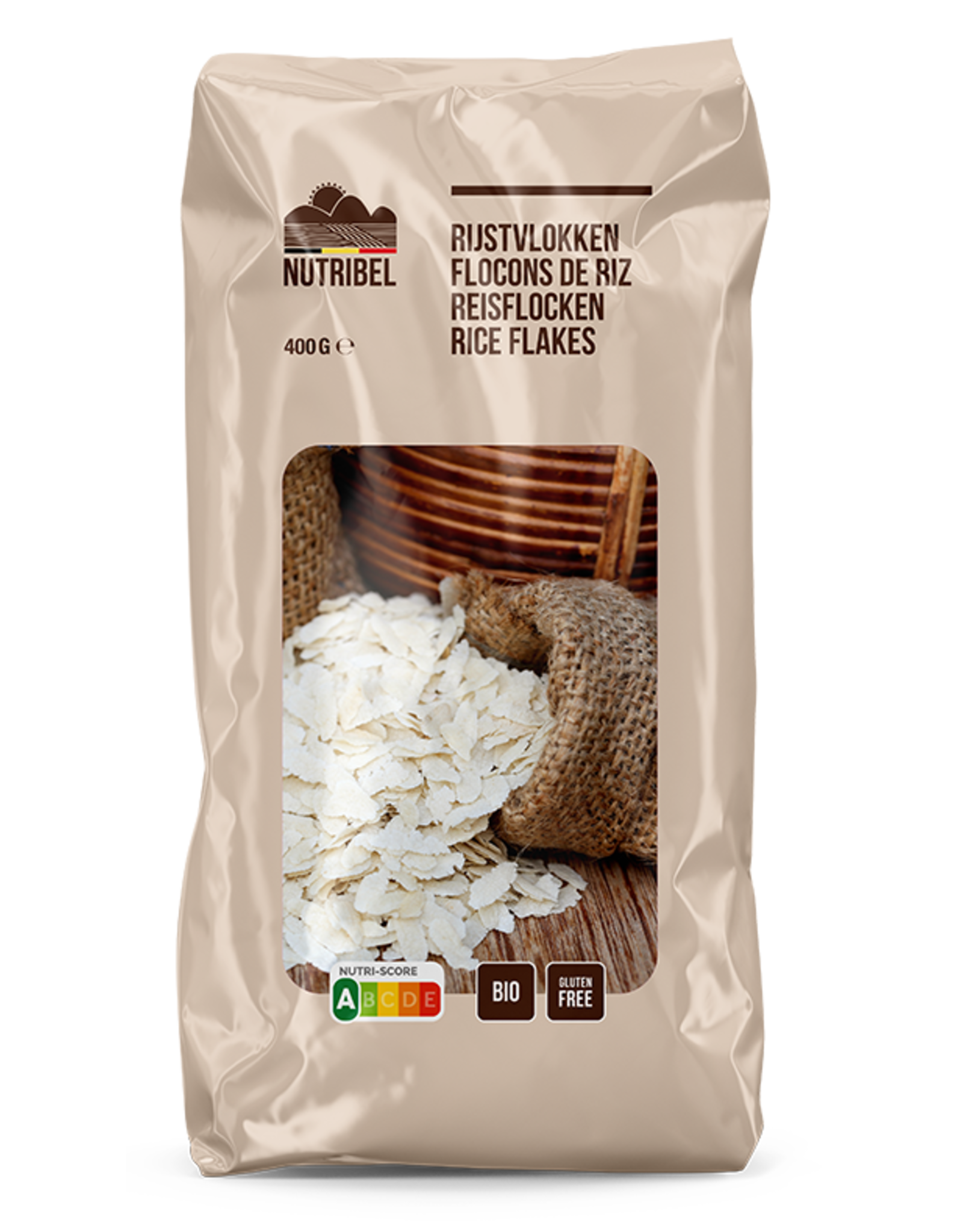 Nutribel Flocons de riz bio & sans gluten 400g