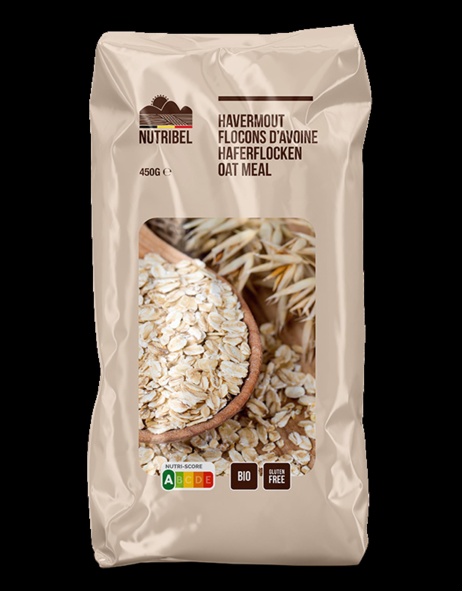 Nutribel Havermout bio & glutenvrij 450g
